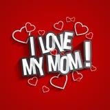Quiero a mi mama Fotografía de archivo
