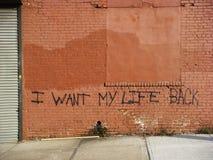Quiero mi parte posterior de la vida Fotos de archivo libres de regalías