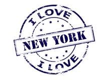 Quiero Nueva York ilustración del vector