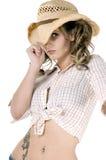 Quiero ser un bebé del Cowgirl Imagen de archivo libre de regalías
