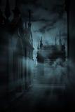 Quiet alley stock illustration
