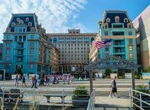 Quiet Atlantic City Boardwalk Royalty Free Stock Photos