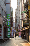 Quiet back street in Jongno District in Seoul Royalty Free Stock Images