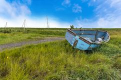 A quiet backwater creek at Gibraltar Point near Skegness, UK stock photos