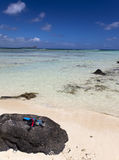 Quiet bay of the island Gabriel. Mauritius Royalty Free Stock Photo