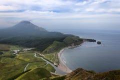Quiet bay. Island Sakhalin, The sea of Okhotsk stock photo