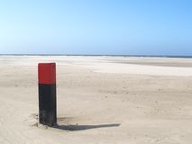 Quiet beach. On Terschelling (island Stock Image