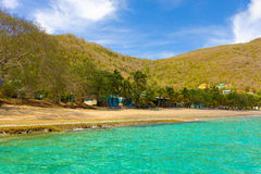 A quiet beach in the grenadines Royalty Free Stock Images
