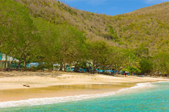A quiet beach in the grenadines Stock Image