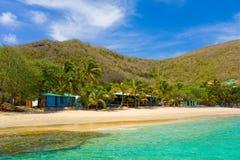 A quiet beach in the grenadines Stock Photos