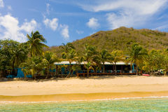 A quiet beach in the grenadines Stock Photo