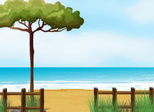 A quiet beach. Illustration of a quiet beach vector illustration