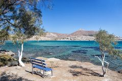 Quiet beach in Naussa, Paros Royalty Free Stock Photo