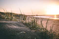 Tranquil beach in Ouddorp the Netherlands royalty free stock image