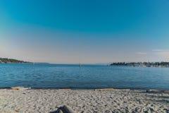 Quiet beach stock photography