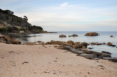 Quiet Beach at Shelley Cove Royalty Free Stock Photo