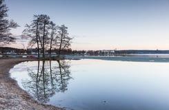 Quiet beach in springtime Stock Photo