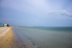 Quiet Black Sea coast and the sandy beach Royalty Free Stock Images