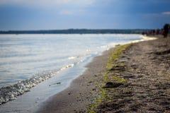 Quiet Black Sea coast and the sandy beach Stock Photo