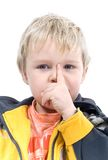 Quiet Boy Royalty Free Stock Photography