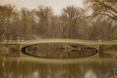 A quiet bridge in Central Park in New York in the Spring. 1 stock image