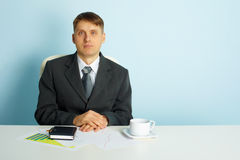 Quiet business young man Royalty Free Stock Photos