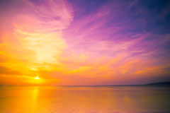 Quiet calm sea at sunrise Stock Photography