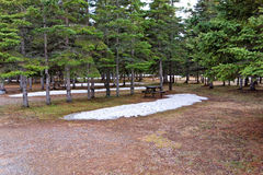 A quiet campground in northern canada Royalty Free Stock Images