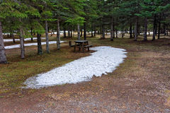 A quiet campground in northern canada Royalty Free Stock Photos