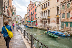 Quiet canal in Venice. Italy Royalty Free Stock Photography