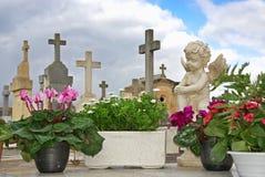Quiet Cemetery Stock Photo