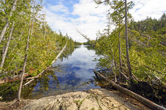 Quiet Channel in Canoe Country Royalty Free Stock Image