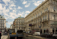 Quiet city life in Vienna Royalty Free Stock Images