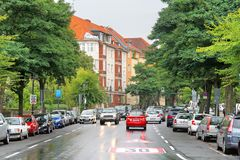Quiet city street Royalty Free Stock Images