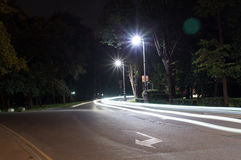 Quiet city street at night. background, citylife Stock Image