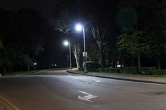 Quiet city street at night. background, citylife Stock Photography