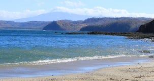 Quiet coastline scene in Costa Rica 4K. A Quiet coastline scene in Costa Rica 4K stock video
