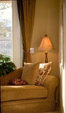 Quiet Corner. Luxurious and comfortable corner of contemporary home for relaxation and rest Royalty Free Stock Images