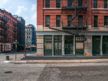 Quiet corner in NYC. Street corner in New York Royalty Free Stock Photo