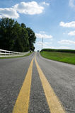 Quiet Country Road Pennsylvania Stock Images