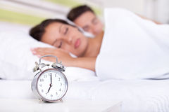 Quiet couple sleeping Stock Photography