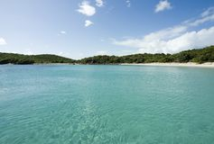 Quiet Cove. Deserted Cove southside of Vieques Island stock image