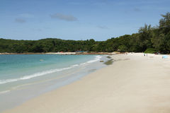 Quiet day at the Hat Sai Kaew Beach at Koh Samet in Thailand Royalty Free Stock Photos