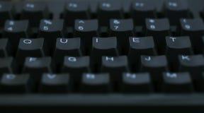 Quiet de mot sur l'ordinateur Image libre de droits