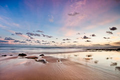 Quiet deserted beach in Algarve Royalty Free Stock Photo