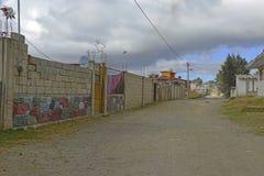 Quiet dirt road in rural farming village, Mexico Stock Image