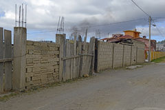 Quiet dirt road in rural farming village, Mexico Royalty Free Stock Photos