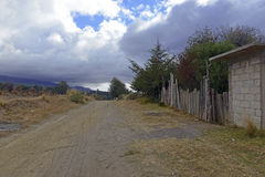 Quiet dirt road in rural farming village, Mexico Royalty Free Stock Photography