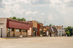 Quiet Downtown Street Stock Photo
