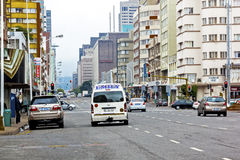 Quiet Early Morning on Anton Lembede Street in Durban Stock Photos